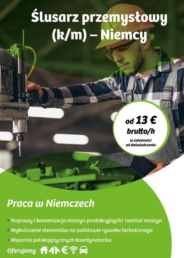 Ślusarz przemysłowy (k/m) – Niemcy
