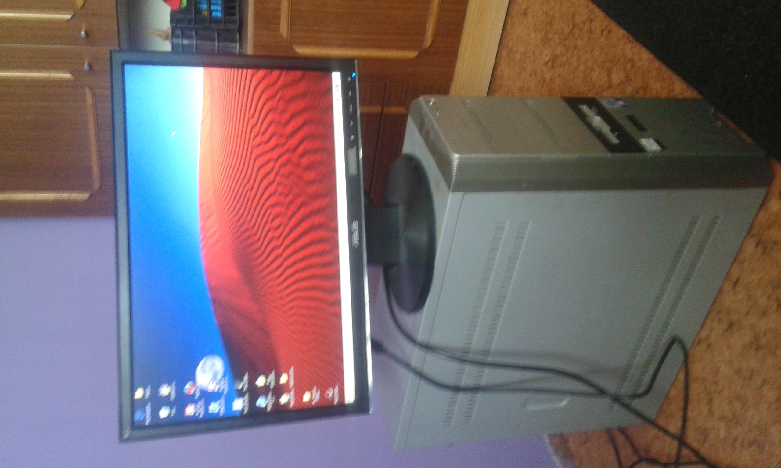 sprzedam komputer z monitorem asus