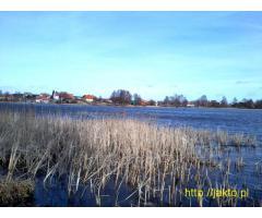Działka siedliskowa nad jeziorem