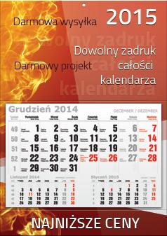 Kalendarze 1-dzielne już od 3,90 zł netto/ szt.