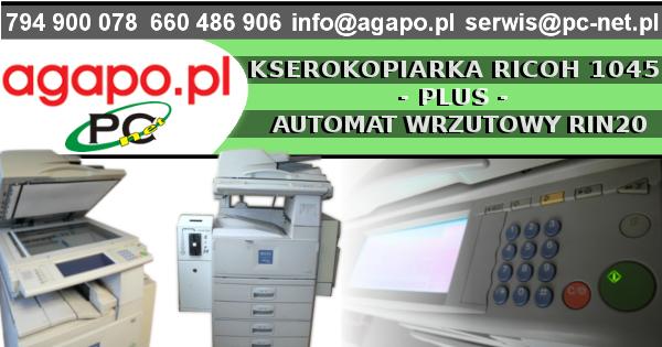 Ksero Ricoh Aficio 1045 + Automat wrzutowy na monety RIN20