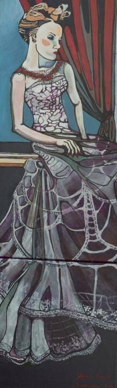 Sztuka, Obraz Kobieta w Teatrze