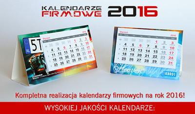 Kalendarze firmowe na rok 2016