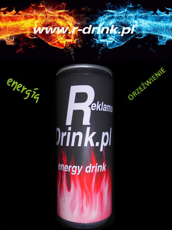 Napoje reklamowe Energy Drink z logo twojej firmy od 24 szt.