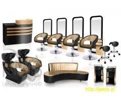 Złote meble fryzjerskie