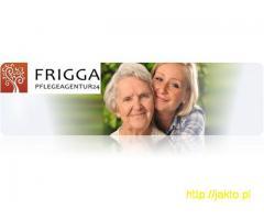 FRIGGA Praca dla niepalącej opiekunki z b. dobrym j. niemieckim/ 01.01/ 127PM