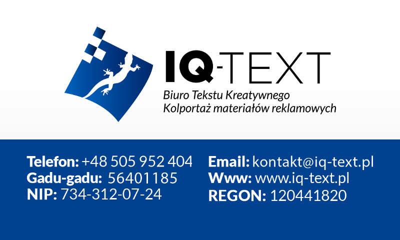 IQ-TEXT - Pomoc w pisaniu prac licencjackich i magisterskich
