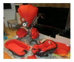 3 W 1 V4 Wózek Stokke Xplory z carry łóżeczko i fotelik samochodowy
