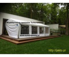 Wynajem wypożyczalnia namiotów Turbonamioty na komunie biesiadne cateringowe Warszawa