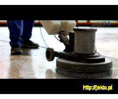 Mycie maszynowe podłóg - szorowanie, doczyszczanie