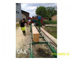 Przecieranie drewna trakiem przewoznym