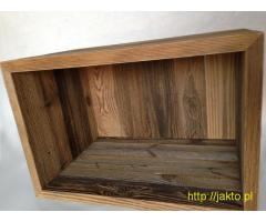 skrzynki modułowe ze starego drewna