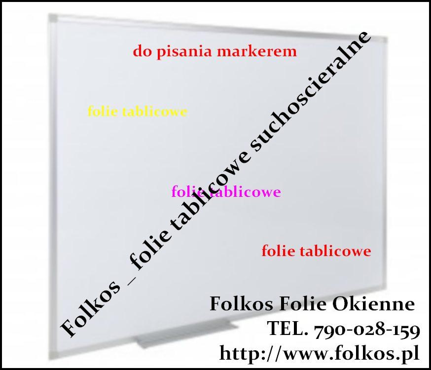 Folie tablicowe Warszawa-  Tablica do pisania markerami - biała Warszawa Folie