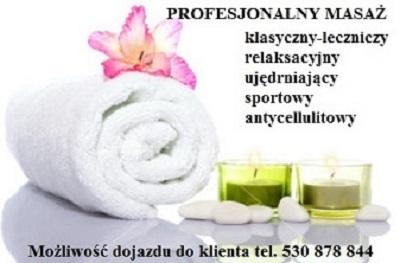 Masaż leczniczy,kręgosłupa Piaseczno – dojazd do klienta
