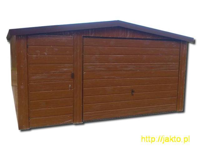 Garaż garaże blaszane imitacja drewna , ocyn, akryl 3x5 6x6 wiaty! Producent! - 2/10