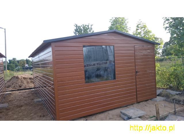Garaż garaże blaszane imitacja drewna , ocyn, akryl 3x5 6x6 wiaty! Producent! - 3/10