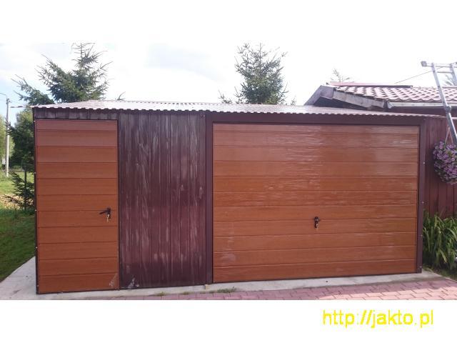 Garaż garaże blaszane imitacja drewna , ocyn, akryl 3x5 6x6 wiaty! Producent! - 4/10