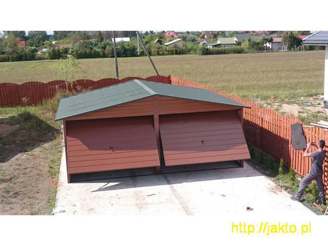 Garaż garaże blaszane imitacja drewna , ocyn, akryl 3x5 6x6 wiaty! Producent! - 5/10