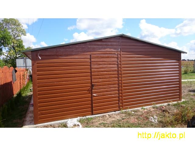 Garaż garaże blaszane imitacja drewna , ocyn, akryl 3x5 6x6 wiaty! Producent! - 6/10