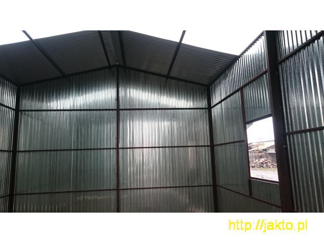 Garaż garaże blaszane imitacja drewna , ocyn, akryl 3x5 6x6 wiaty! Producent! - 8/10