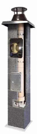 Komin do gazu Turbo dymowy fi 120(z zamkniętą komorą spalania)