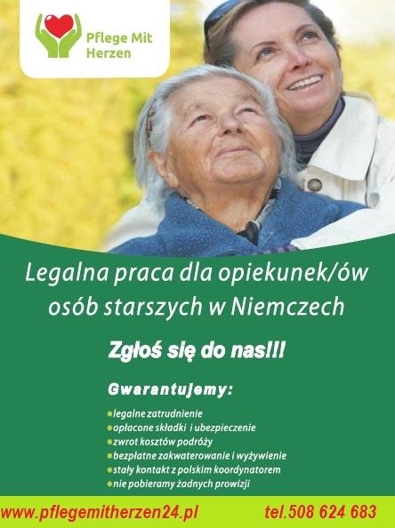 Pracuj w opiece w wakacje z Pflege mit Herzen 24