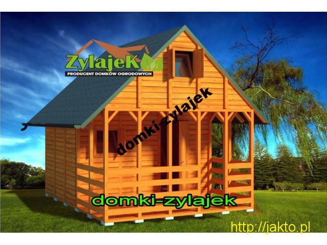 Piętrowy Domek ogrodowy 16m2 producent Zylajek