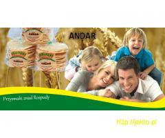 Pyszne wafle pszenne i ryżowo-kukurydziane znad Rospudy od firmy ANDAR