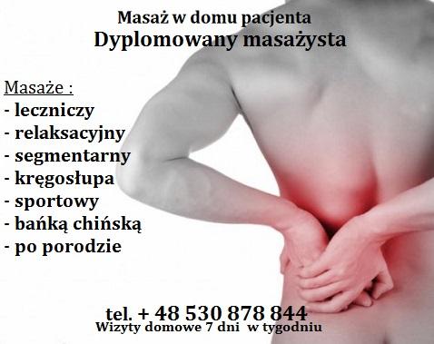 Masaż kręgosłupa Gocław dojazd do klienta Warszawa