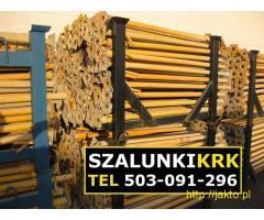 Stemple budowlane, podpory stropowe ! Szalunki Kraków