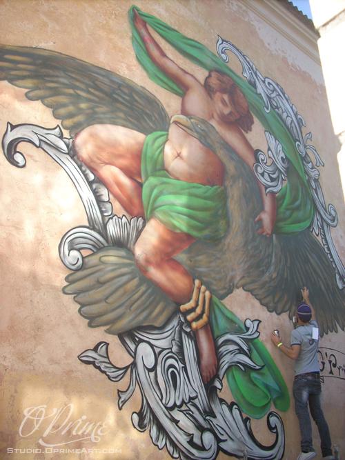 Artystyczne malowanie, wielkoformatowa reklama malowana oraz 3D grafittiar