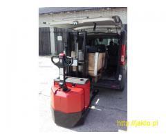 Używany paleciak elektryczny BT Toyota SWE 160D wózek widłowy magazynowy