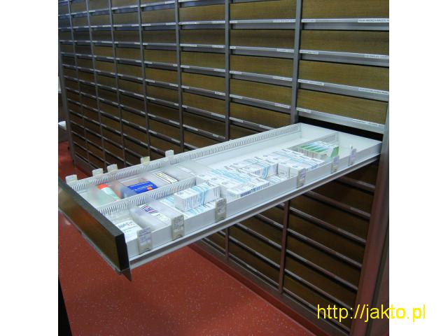 Meble apteczne szuflady głębokiego składowania