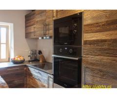 fronty kuchenne ze starego drewna na wymiar