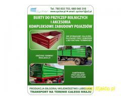 Burty do przyczep – Producent – Transport na terenie całego kraju