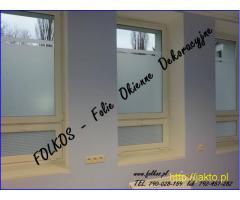 Folia okienna- do domu i biura Mińsk Mazowiecki- Oklejanie szyb, sprzedaż folii Folkos