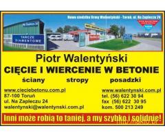 Cięcie dylatacji, cięcie posadzki, wiercenie w betonie, cięcie w betonie, Toruń, Bydgoszcz, Gdańsk