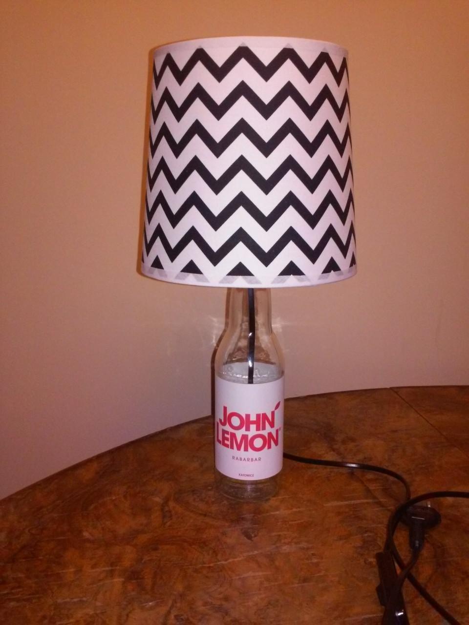 Lampka z BUTELKI na prezent / lampka nocna / vintage / loft