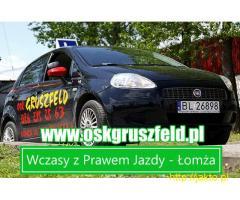 Wczasy z kursem Prawa Jazdy w Łomży