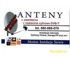 ANTENY SATELITARNE / TELEWIZJA NAZIEMNA DVB-T / INTERNET - Montaż, serwis