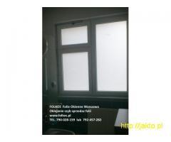 Folie okienne Mińsk Mazowiecki -Oklejanie szyb -Folie matowe Folkos