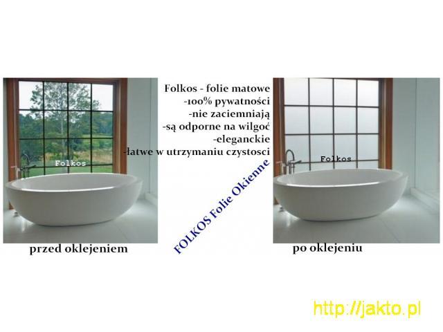 Folie okienne Mińsk Mazowiecki -Oklejanie szyb -Folie matowe Folkos - 5/11