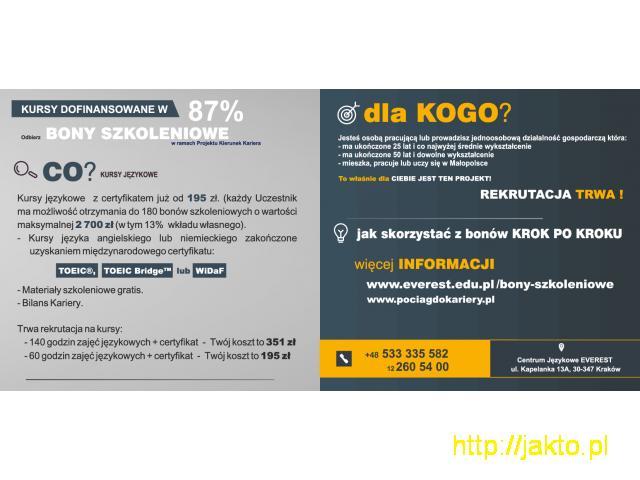 Dofinansowanie do 87% do kursów językowych - 4/4