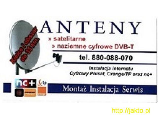 ANTENY SATELITARNE / TELEWIZJA NAZIEMNA DVB-T / INTERNET - Montaż, serwis - 1/1