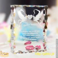 Kryształ 3D na Prezent dla Rodziców w dniu Twojego ślubu!