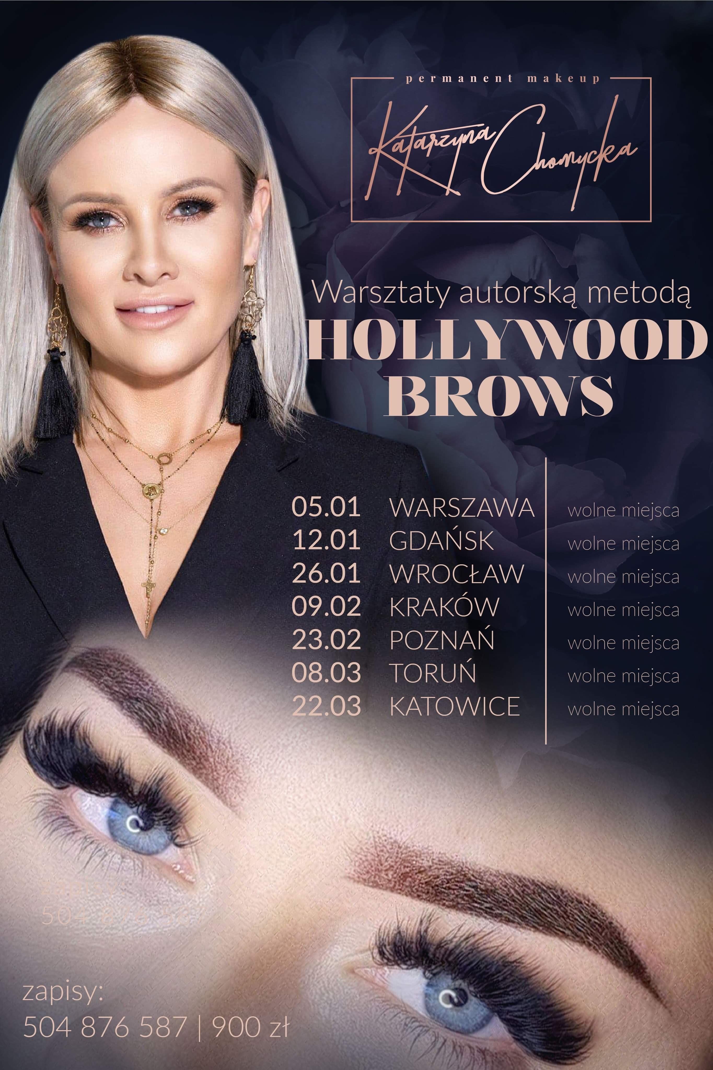 Warsztaty HOLLYWOOD BROWS makijaż permanentny