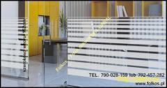 Folia dekoracyjna wzór 234 Folkos folie Łódź -folie okienne Manhattan, Mgła...