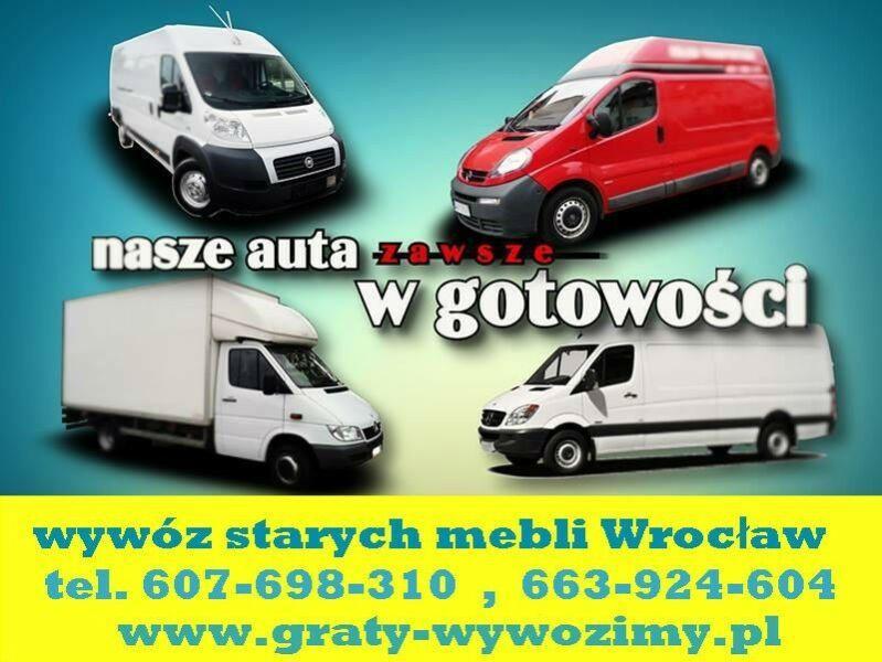 Wywóz starych mebli Wrocław,opróżnianie,czyszczenie mieszkań,piwnic,utylizacja starych mebli