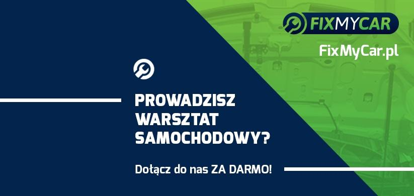 Zarejestruj swój warsztat samochodowy! - FixMyCar – Cała Polska