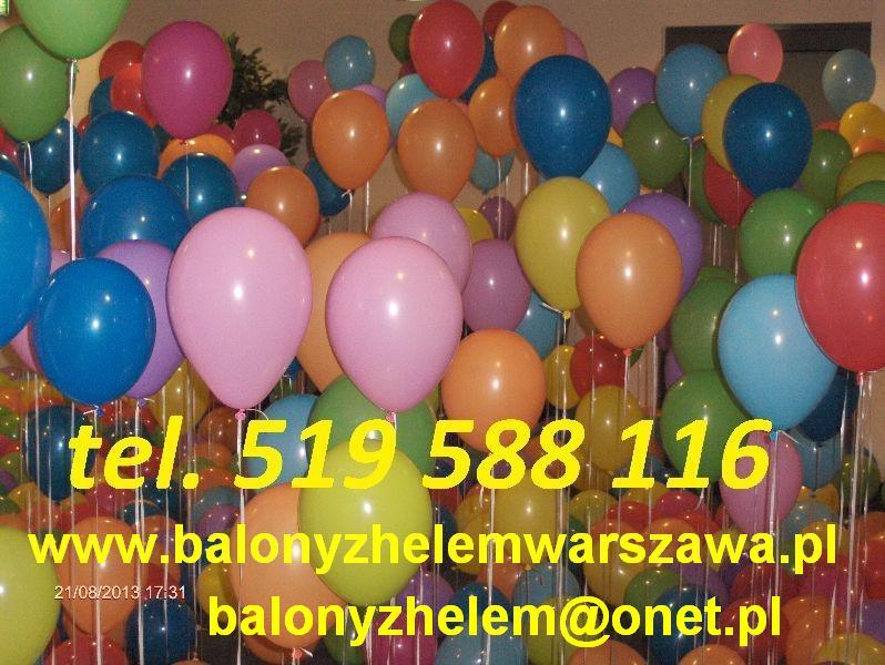 Balony z helem warszawa hel do balonów led brama łuk pudło ślub balony helowe